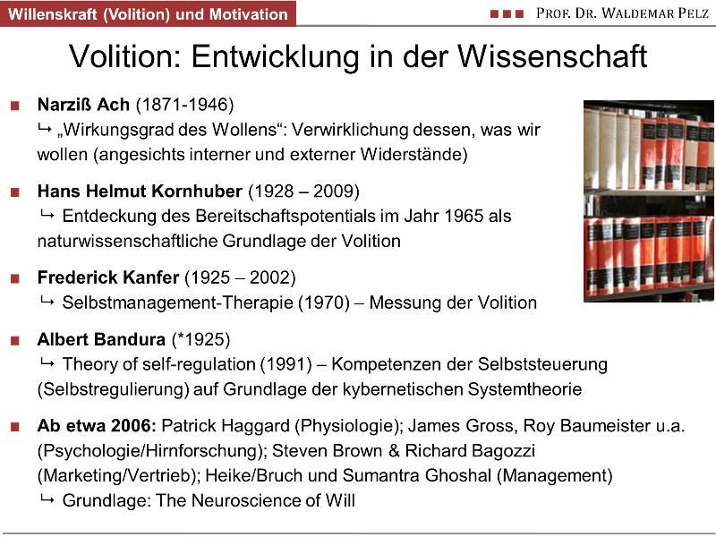 Willenskraft (Volition) in der Forschung